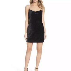 Bardot Women's Dress Velour Strappy Black Mini S